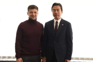 Zelensky se reúne con el embajador de China (Fotos)