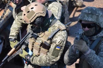 Ukrainian marines train to seize vessels in open sea
