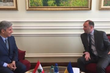 Ucrania y el Líbano acuerdan acelerar la preparación de los contratos de cooperación en diversos campos