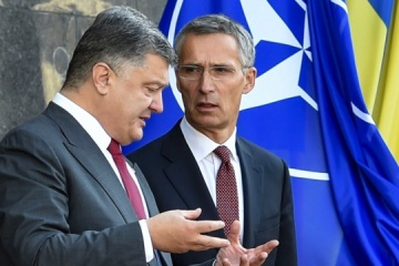 Poroshenko meets with Stoltenberg in Brussels