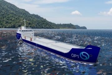 Los ucranianos han desarrollado una planta de reciclaje de residuos flotante para limpiar el océano (Fotos)