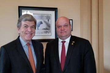 Ambassador Chaly, Senator Blunt discuss possible increase in military support for Ukraine