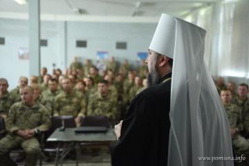 Епіфаній відвідав бійців 79-ї аеромобільної бригади у Маріуполі