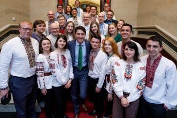 Canadian PM Justin Trudeau congratulates on Vyshyvanka Day