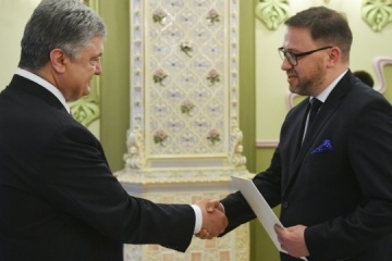 President receives credentials from ambassadors of number of foreign states