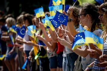Ucranianos celebran el Día de Europa
