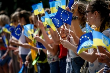 Ucranianos celebran hoy el Día de Europa
