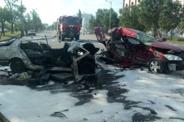Familie kommt bei Unfall in Dnipro ums Leben - Video