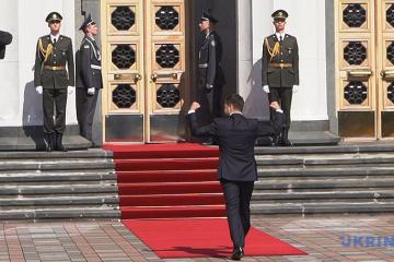 Live: Zeremonie der Amtseinführung von Präsident Selenxkyj begann im Parlament