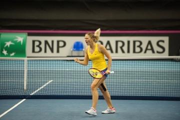 Martha Kostiuk, pour la première fois de sa carrière, a atteint les quarts de finale du tournoi WTA