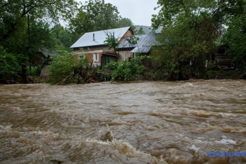 Nineteen houses remain flooded in Ivano-Frankivsk region