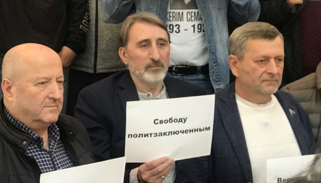 Rally in support of Crimean political prisoners held in Kyiv