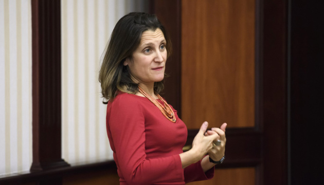 Chrystia Freeland meets with Ukrainian community in Canada