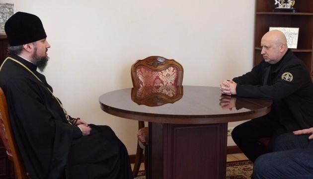 Турчинов обсудил с Епифанием закон о капелланстве