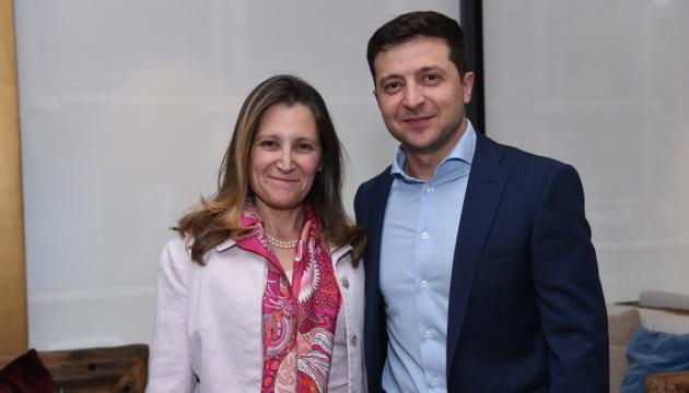 Зеленський обговорив з Фріланд боротьбу з корупцією та врегулювання на Донбасі