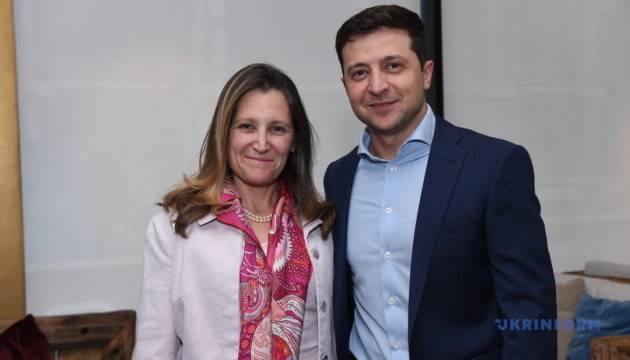 Zelensky, Freeland discuss fight against corruption, situation in Donbas. Photos