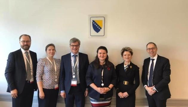 Бізнес-форум ЄБРР: Маркарова у Сараєво зустрілася з ключовими партнерами України
