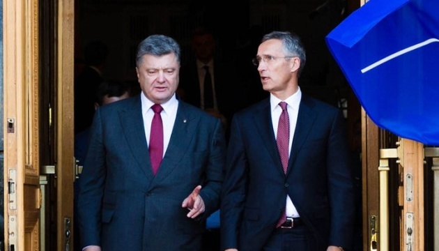 Poroshenko se reunirá con Stoltenberg en la sede de la OTAN