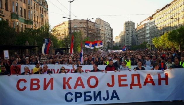 В Сербии продолжаются антиправительственные протесты
