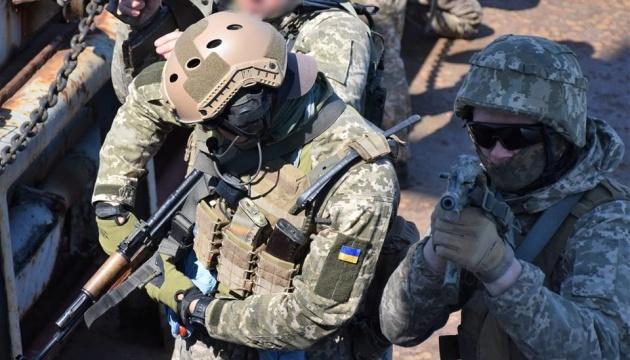 Ukrainian marines train to seize vessels in open sea