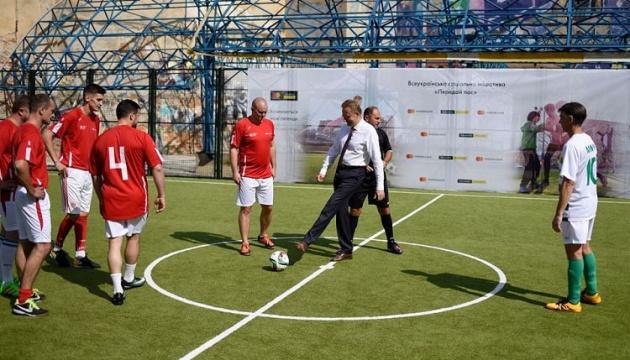 На Львівщині за рік побудували 30 футбольних майданчиків