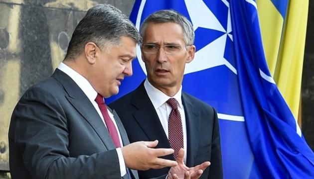 Poroshenko meets with Stoltenberg in Brussels