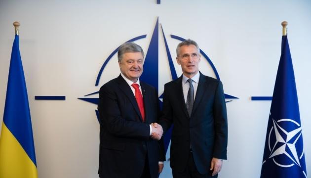 Poroshenko, Stoltenberg discuss security situation in Black Sea, Sea of Azov