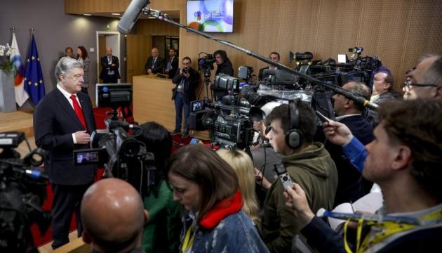 Poroszenko zapewnił NATO, że Ukraina nie zmieni swojego kursu w kierunku Sojuszu (Wideo)