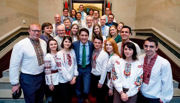 Трюдо зустрівся з українськими стажерами в парламенті Канади