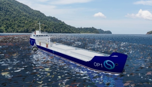 Ukrainians invent floating waste recycling plant for cleaning ocean. Photos