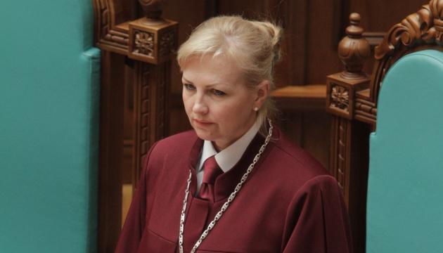 Голова КСУ заперечує, що зустрічалась із Зеленським