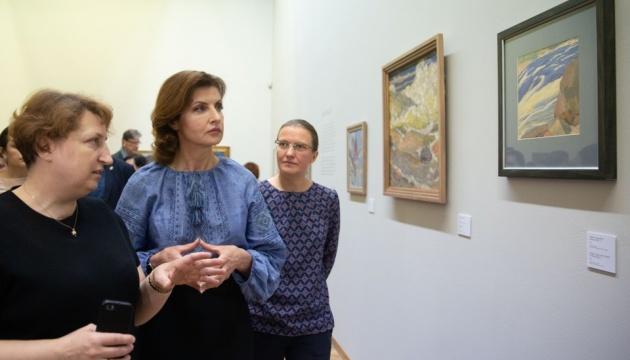 За участю Марини Порошенко відкрили виставку авангардиста Богомазова