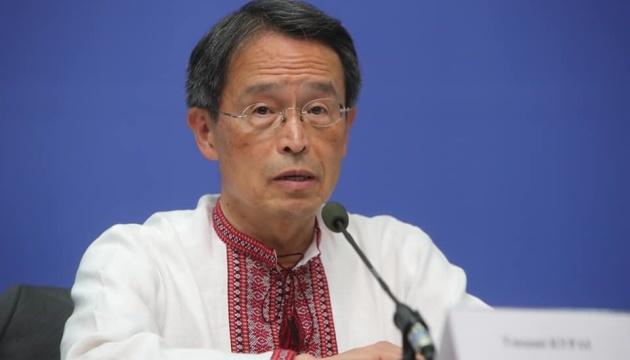 Посол Японии поздравил украинцев с днем вышиванки