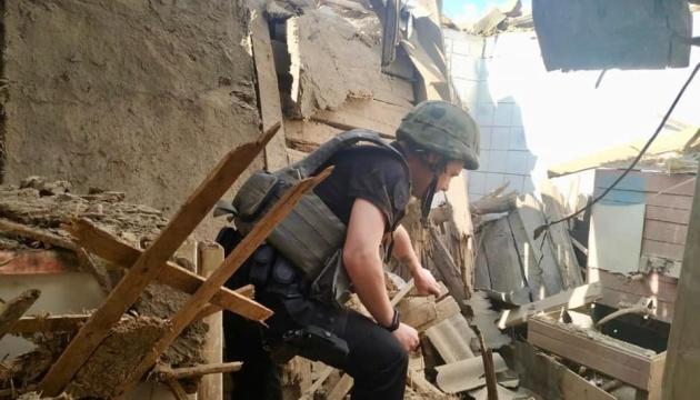 Реактивний снаряд окупантів зруйнував будинок у Золотому