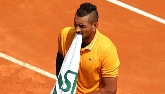 Тенісист Кіріос покараний штрафом і не отримає призових на Мастерсі в Римі