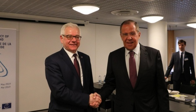 Polish, Russian foreign ministers in Helsinki discuss Ukraine and Kaczynski's plane