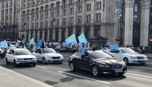 У Києві пам'ять жертв депортації кримських татар ушанували автопробігом
