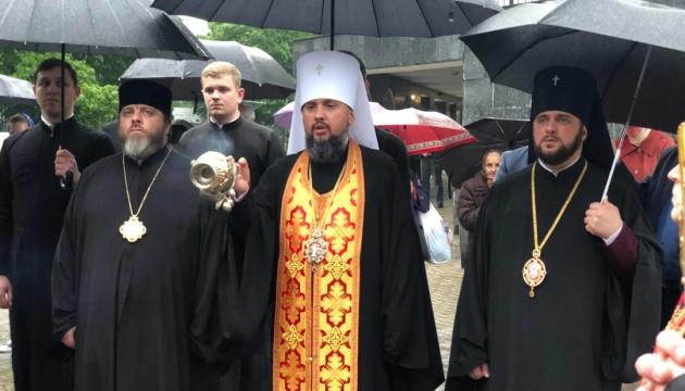 Епіфаній у Рівному молитвою вшанував Небесну Сотню та українських воїнів