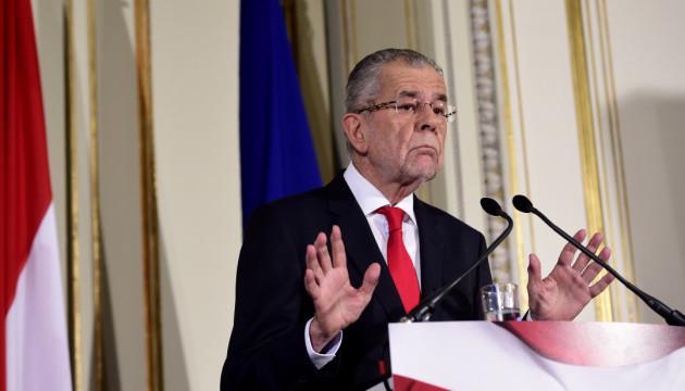 Президент Австрії виступає за дострокові парламентські вибори у вересні