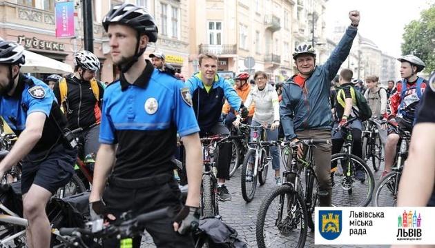 Во Львове состоялся традиционный массовый велопробег