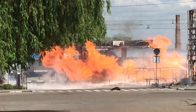 У Житомирі спалахнула АЗС, є потерпілі