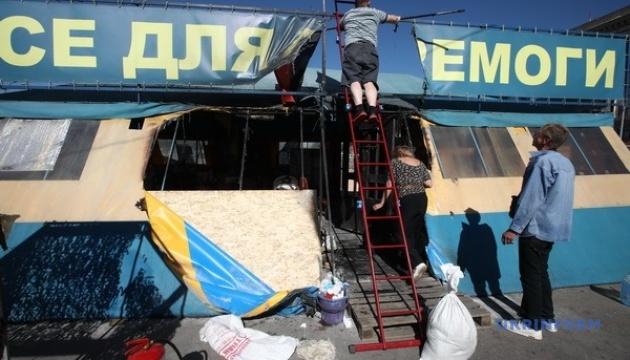 Голова Харківської ОДА доручила розслідувати пожежу у волонтерському наметі якнайшвидше