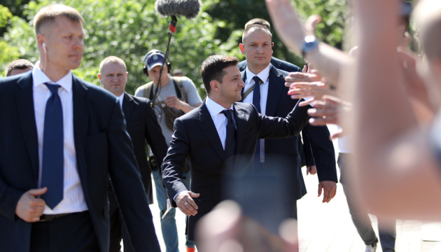 Zelensky est arrivé au Bureau présidentiel