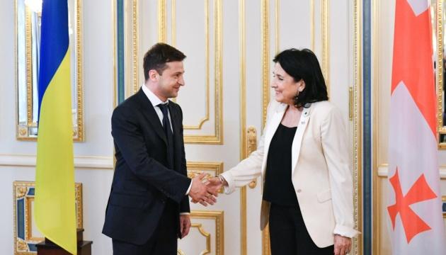 Georgiens Präsidentin Salome Surabischwili besucht am Mittwoch die Ukraine