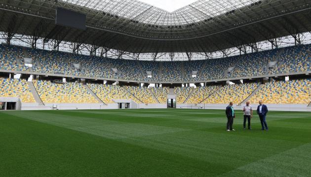 На «Арені-Львів» продемонстрували новий газон
