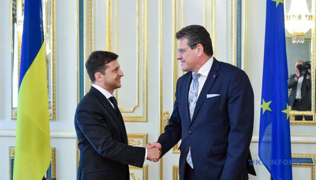 Віце-президент Єврокомісії привіз Зеленському запрошення якнайшвидше відвідати ЄС