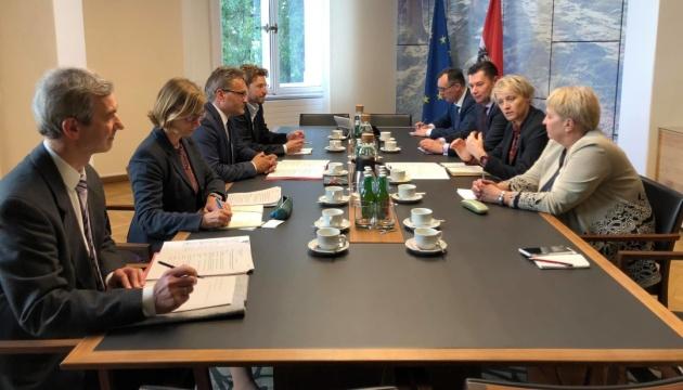 Sitzung der ukrainisch-österreichischen Regierungskommission in Wien - Foto
