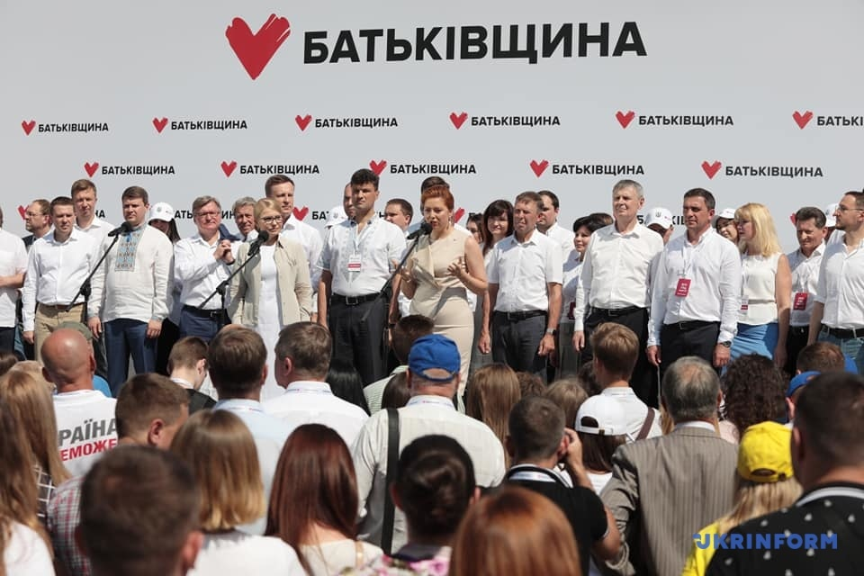 Batkivshchyna names top five candidates on its election list