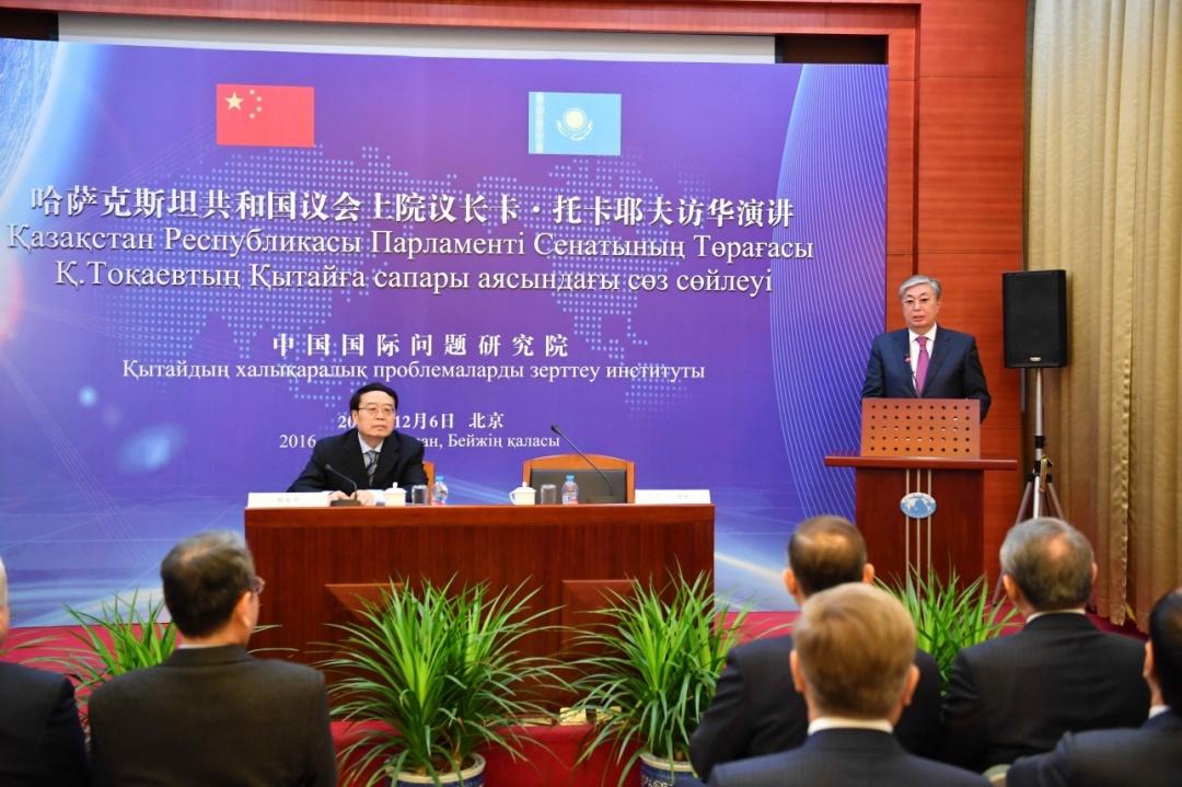 Під час візиту до КНР Токаєв спілкувався з місцевими політологами китайською