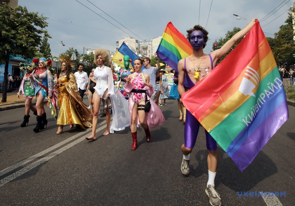 Они смогли: голубая колонна Вооруженных Сил Украины на гей-параде в Киеве